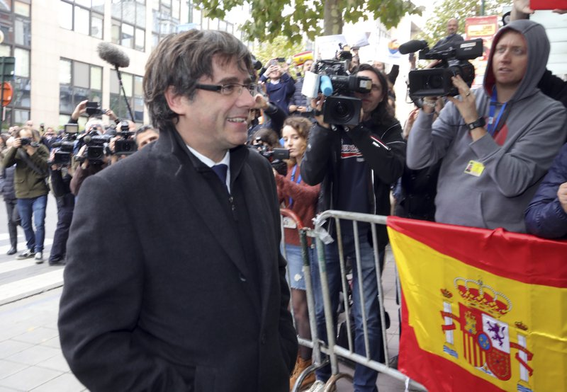 Catalan leader says he is seeking safety outside Spain