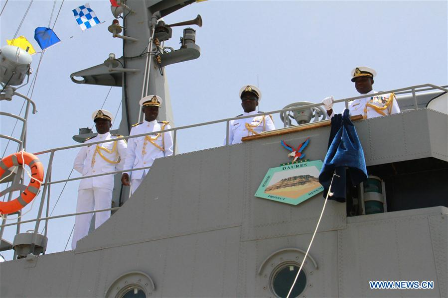 Photo:Chinese-built naval vessels commissioned by Namibian president