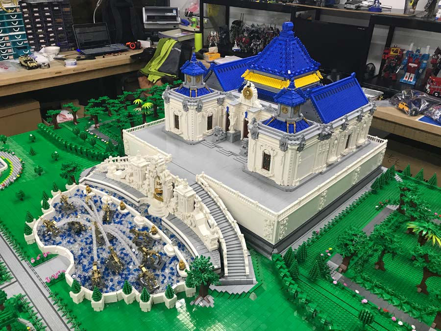Old Summer Palace reappears in Lego bricks