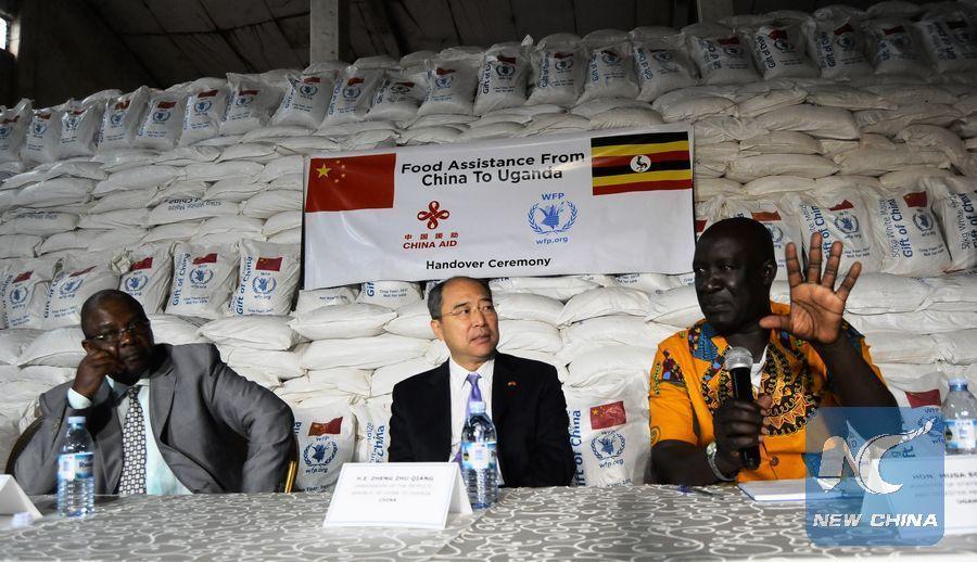 China donates emergency food aid worth 5 mln USD to Uganda