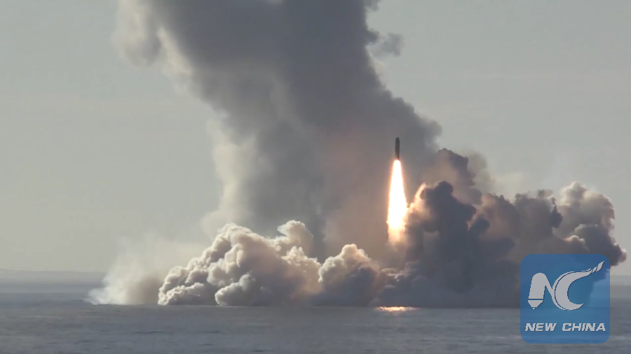 Russia's submarine successfully test-fires 4 missiles