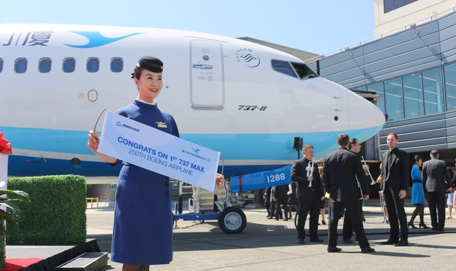 Chinese airline takes delivery of first Boeing 737 MAX aircraft