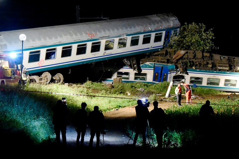 Two dead, 20 injured after train smashes into truck in Italy