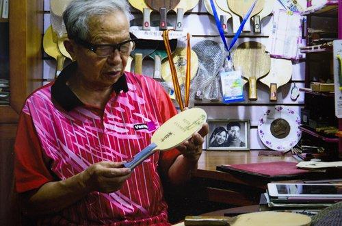 Veteran table tennis paddle maker behind many of China's world champions