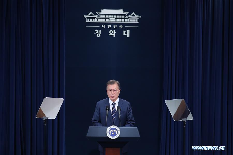 Moon says both Kim, Trump wish success of DPRK-US summit wholeheartedly