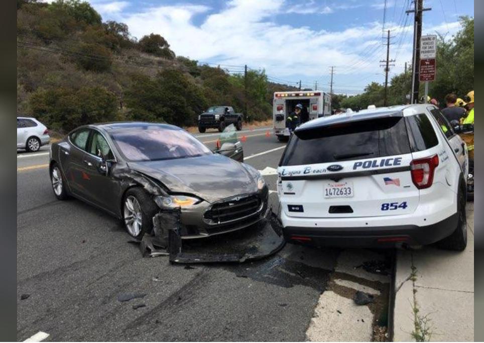 Tesla hits parked California police vehicle; driver blames 'Autopilot'