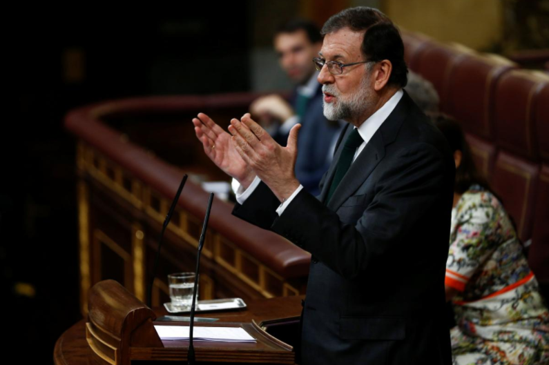 Spanish Congress passes no-confidence motion against PM