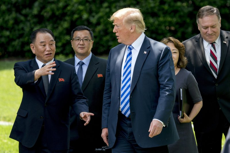 Trump said meeting with Kim back on for June 12