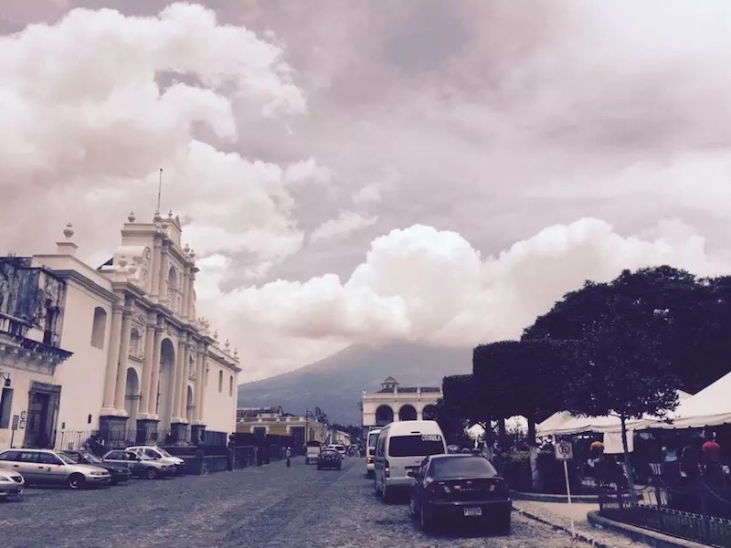 Reporter's note: Life under a volcano