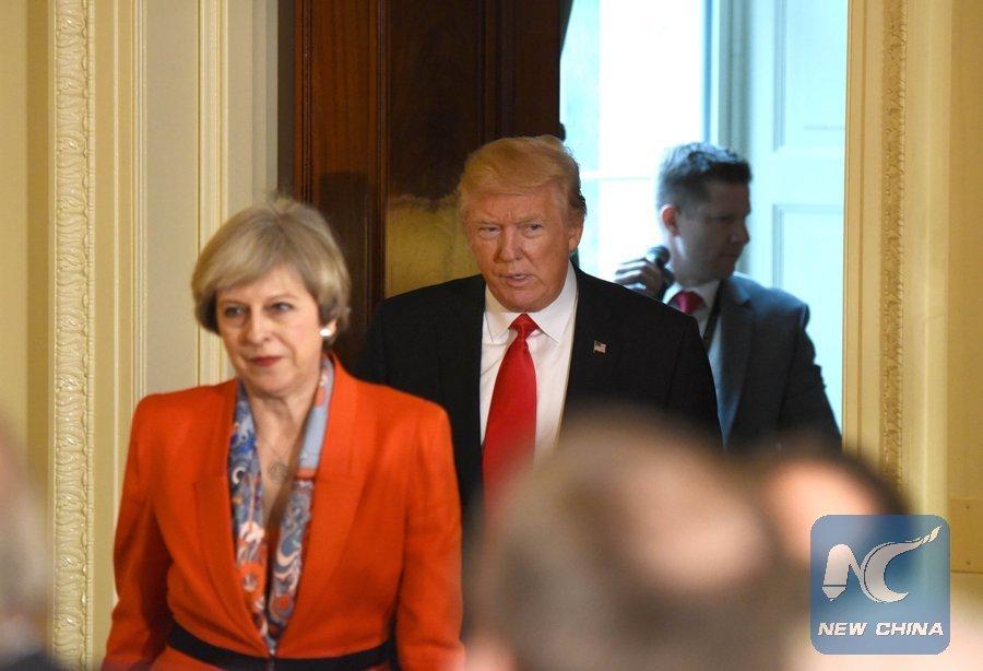 Trump, May speak over phone on trade, Iran, G7 summit