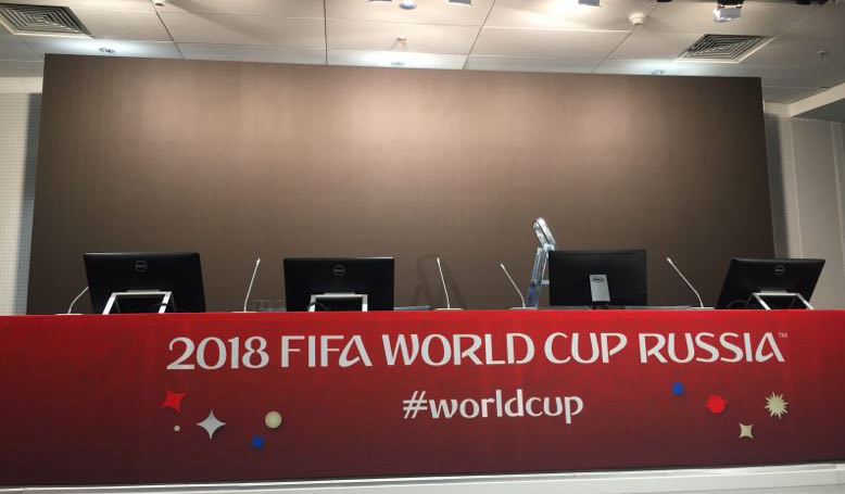 Luzhniki Stadium to have Chinese e-board in press conference room