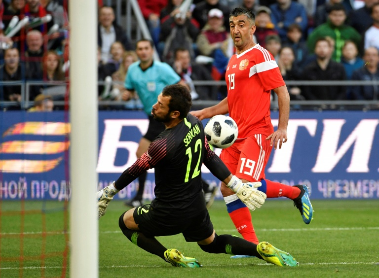 Russia laments winless streak days before World Cup