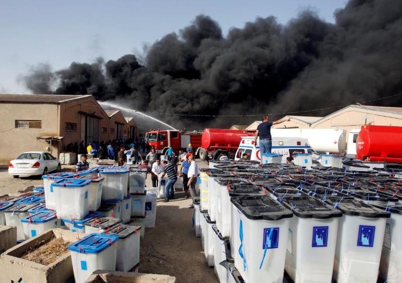 After ballot box fire, Iraqi cleric Sadr warns of civil war