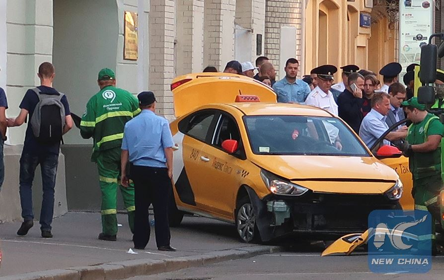 Taxi rams into crowd in Moscow, injures 7
