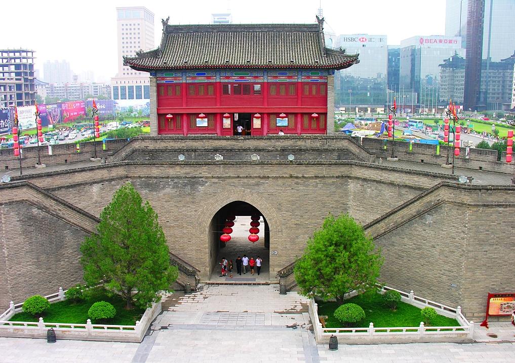 Xi'an starts preservation on landmark ancient city gate