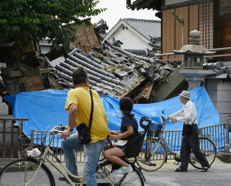 Three dead, 300 hurt as strong quake jolts Japan's Osaka