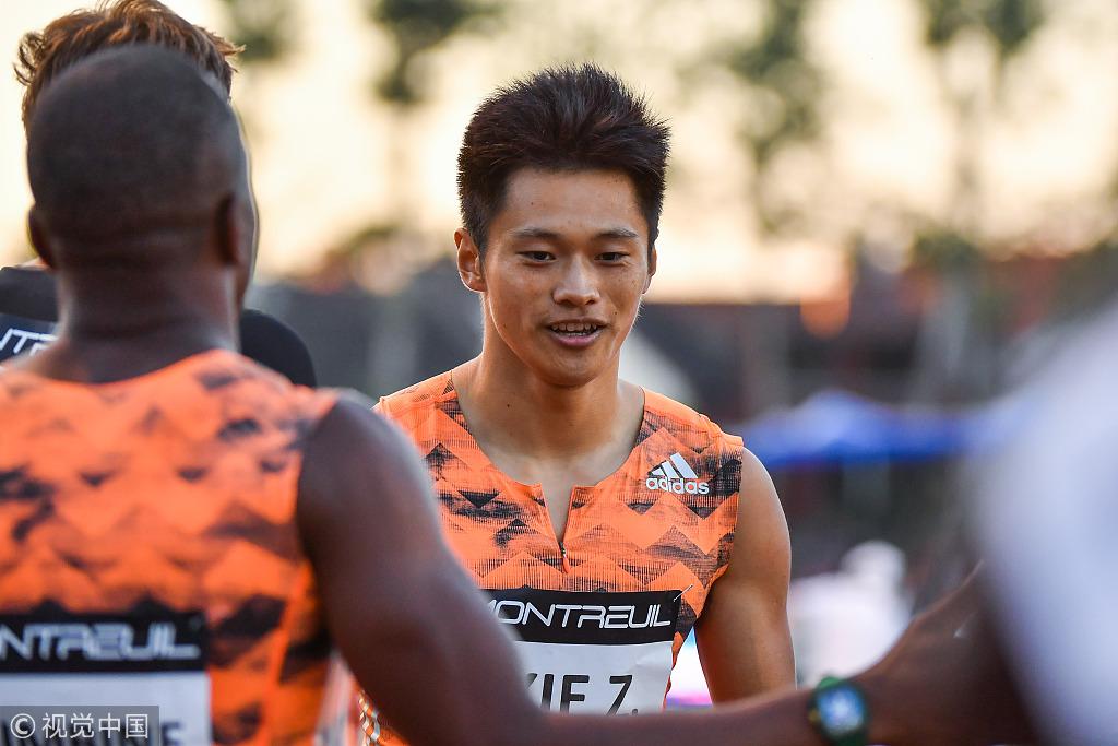 China's Xie Zhenye makes 100m sprint history at 9.97 seconds