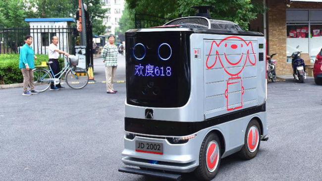 Self-driving delivery robots hit the streets of Beijing