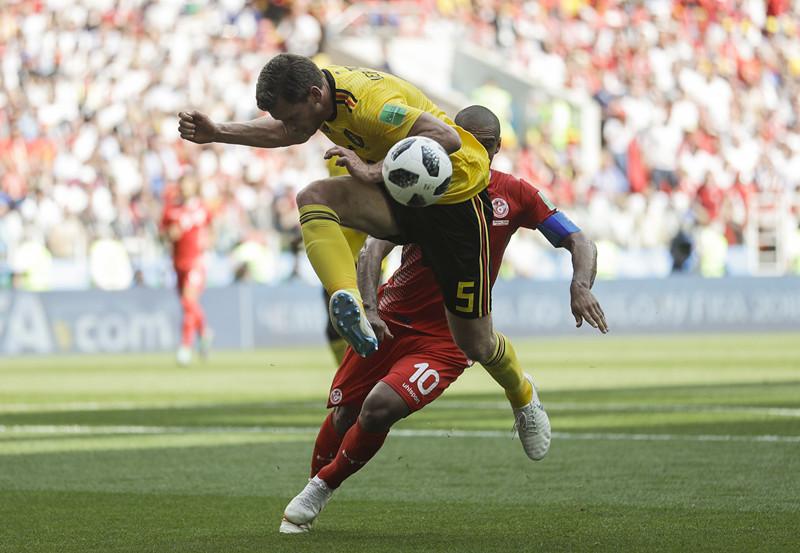 Belgium beat Tunisia 5-2 in World Cup