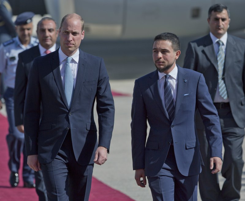 UK's Prince William starts politically delicate Mideast trip