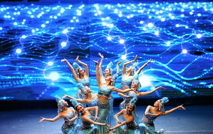 Chinese dancers perform during cultural performance in Kuwait