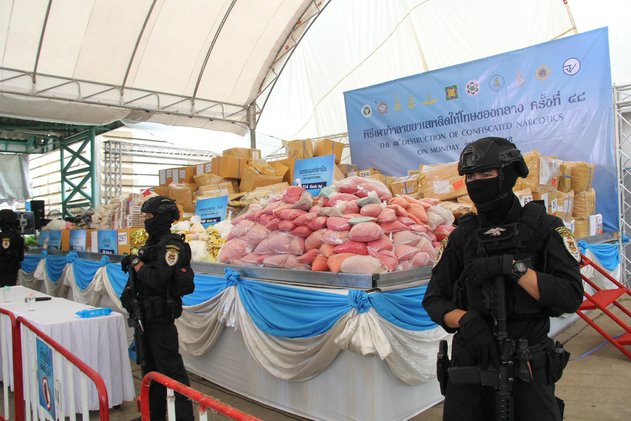 Thailand to burn 15,000kg of seized drugs