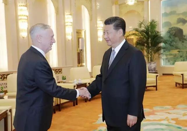 Xi Jinping meets with US Defense Secretary Mattis