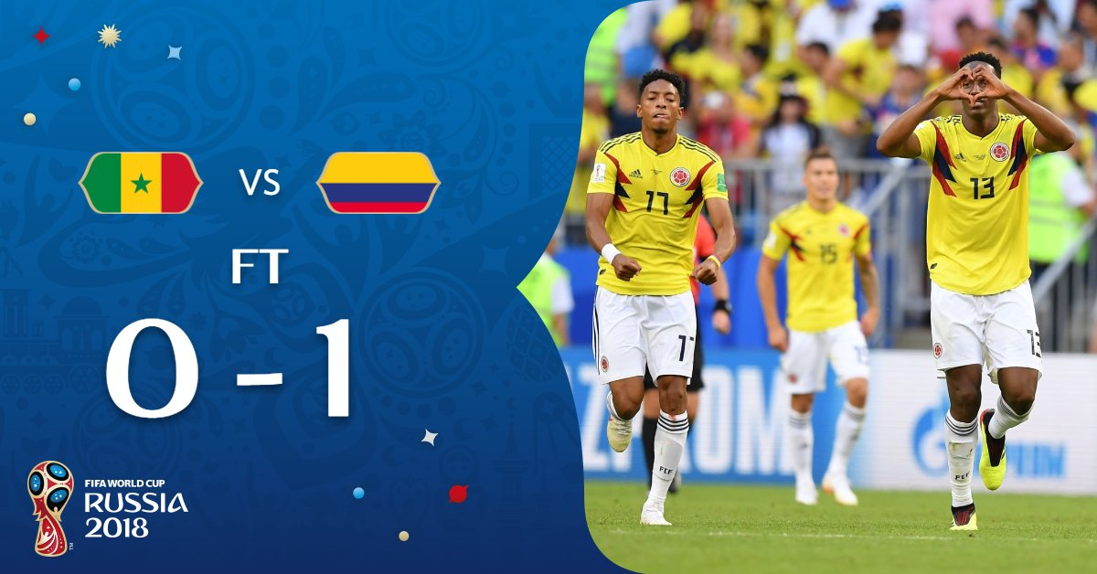 Colombia, Japan qualified for World Cup last 16