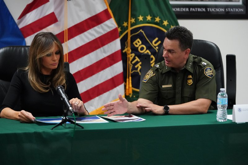 Melania Trump seeing lots, saying little at migrant centers