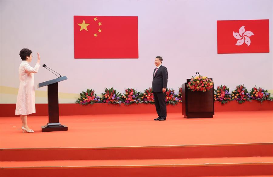 Hong Kong marks 21st anniversary of its return to China