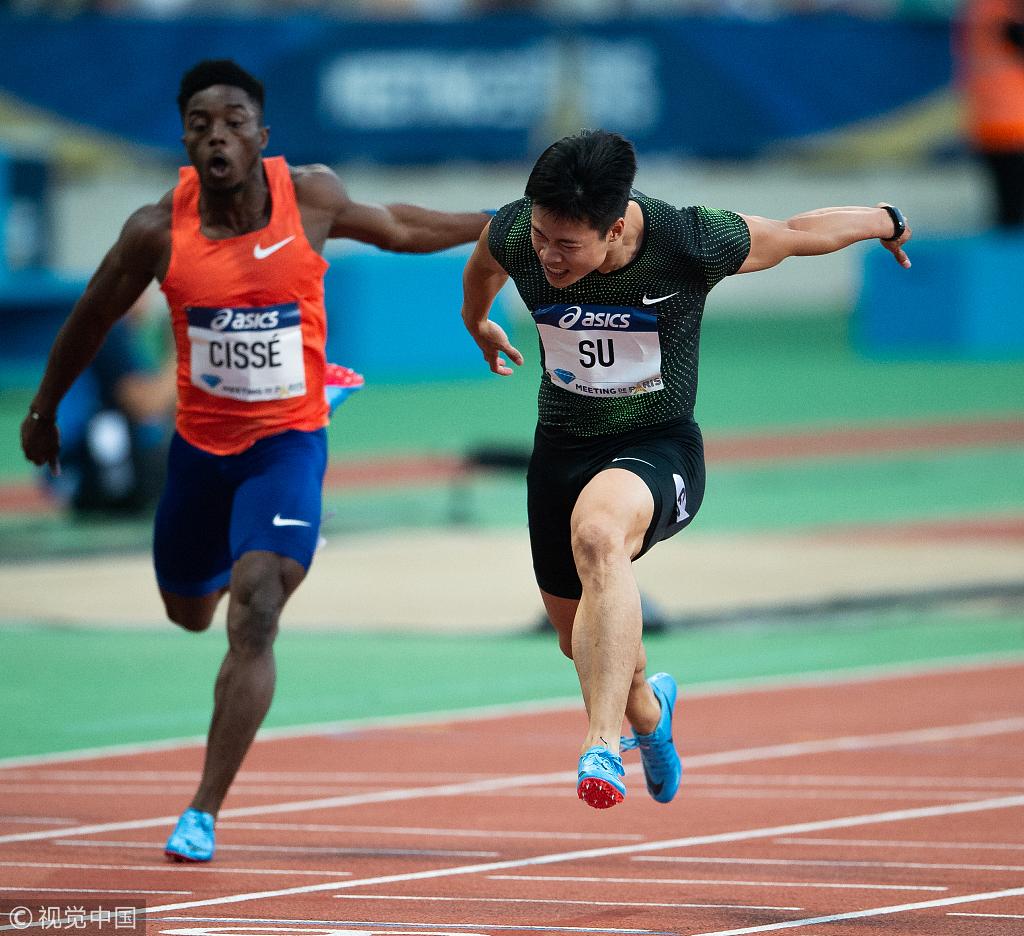 China's Su Bingtian equals 100m Asian record