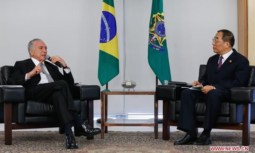 Brazilian president meets senior CPC official on ties