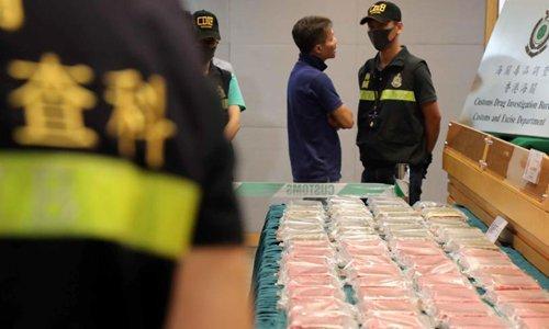 Hong Kong customs seize HK$80-million drug stash
