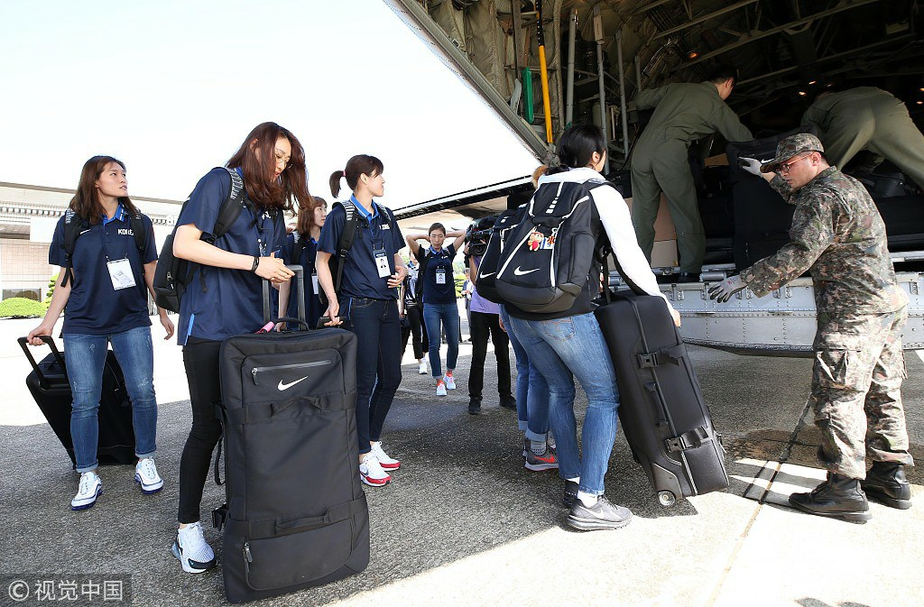 S. Korean basketball teams in Pyongyang for friendly matches