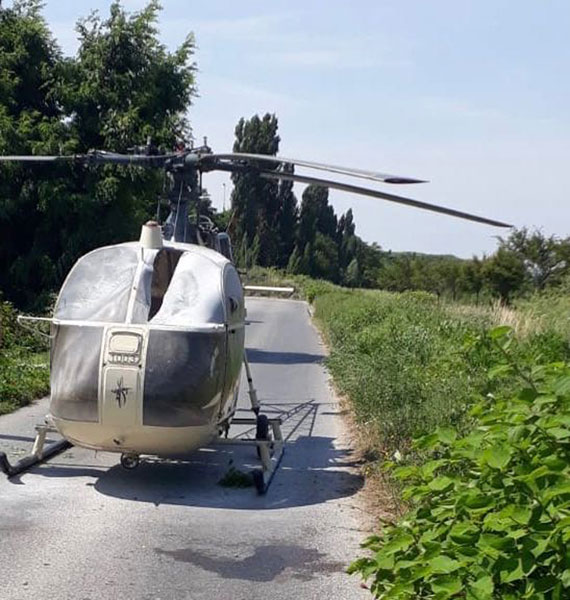 This photo taken on Sunday, July 1, 2018 and provided on Monday, July 2, 2018 by the AP on the condition that its source not be revealed shows an helicopter abandoned by notorious French criminal Redoine Faid after his escape from a prison, in Gonesse, north of Paris, France. Faid serving 25 years for murder made an audacious escape from prison Sunday after a helicopter carrying several heavily armed commandos landed in a courtyard, freed him from a visiting room and carried him away. [Photo: AP]