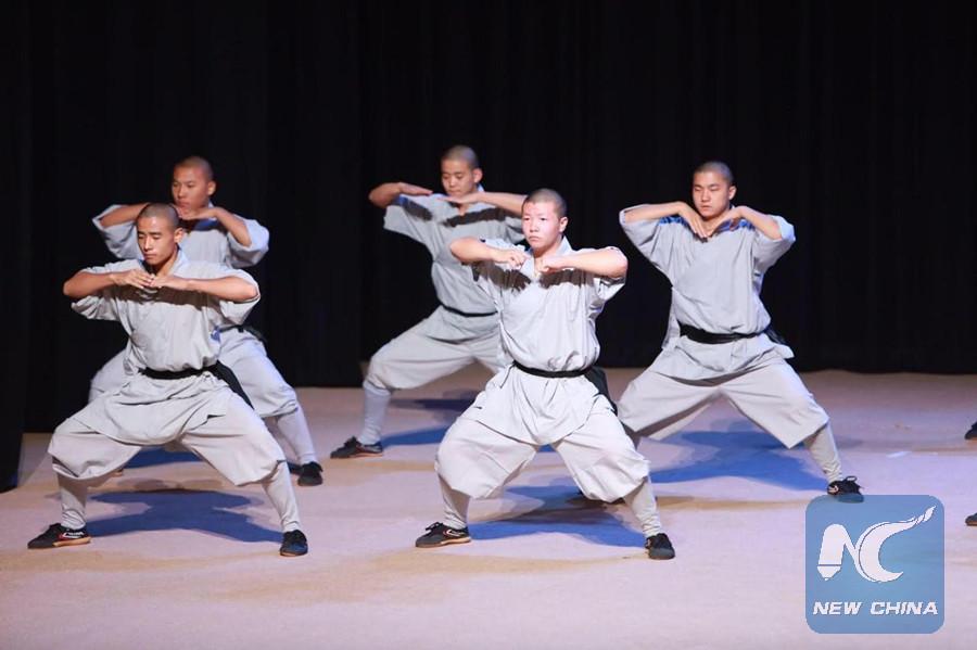 Chinese Shaolin Kungfu stunts on 30th anniversary of tie founding between China, Qatar
