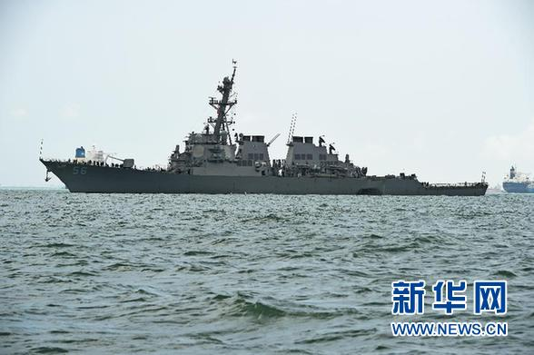 US warships play psychological game in Taiwan Straits