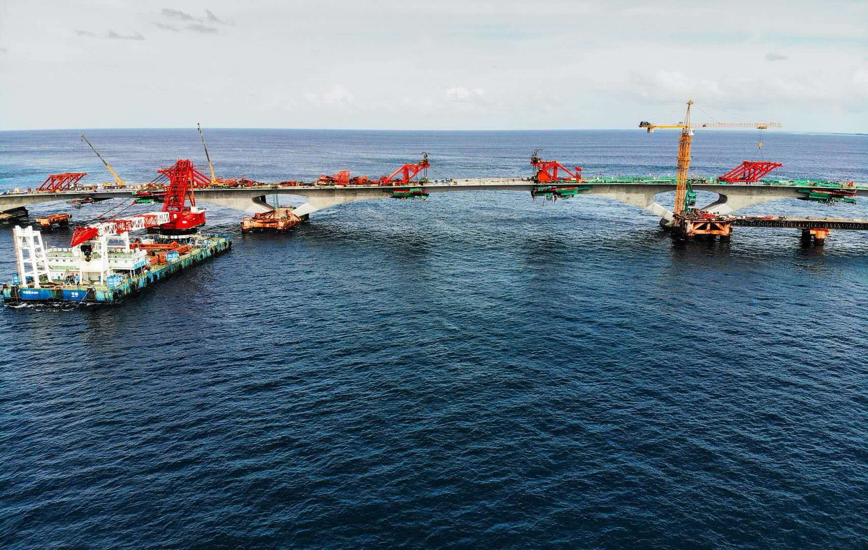 The China-Maldives Friendship Bridge. [Photo provided to China Plus]