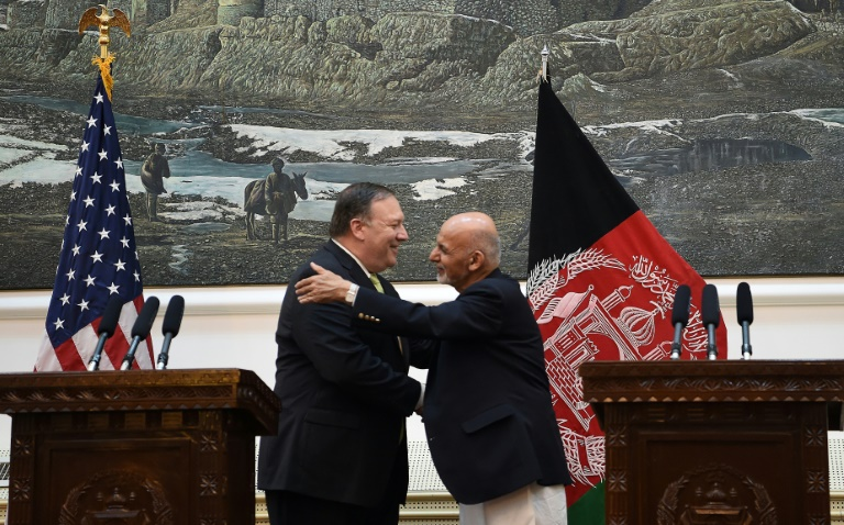 Pompeo says 'hope' for Afghan peace talks in unannounced visit to Kabul