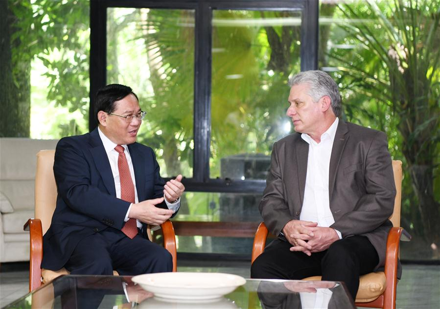 Cuban president, CPC senior official vow to deepen China-Cuba relations