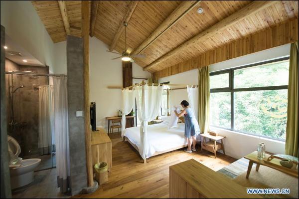 Guest houses attract many tourists on Mogan Mountain, E China's Zhejiang
