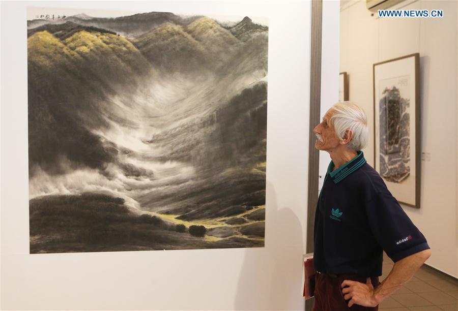 Exhibition of Chinese freehand brushwork held in Kiev, Ukraine