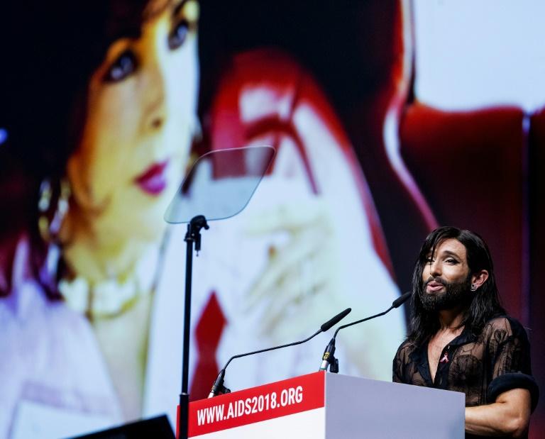 Conchita employs star appeal against HIV stigma