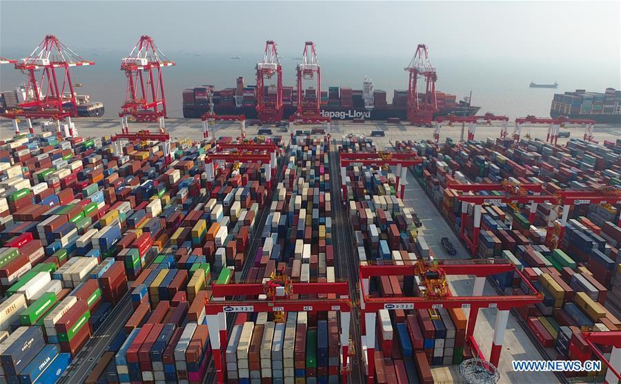 TEU throughput of Port of Shanghai reaches record high of 4.02 mln in 2017