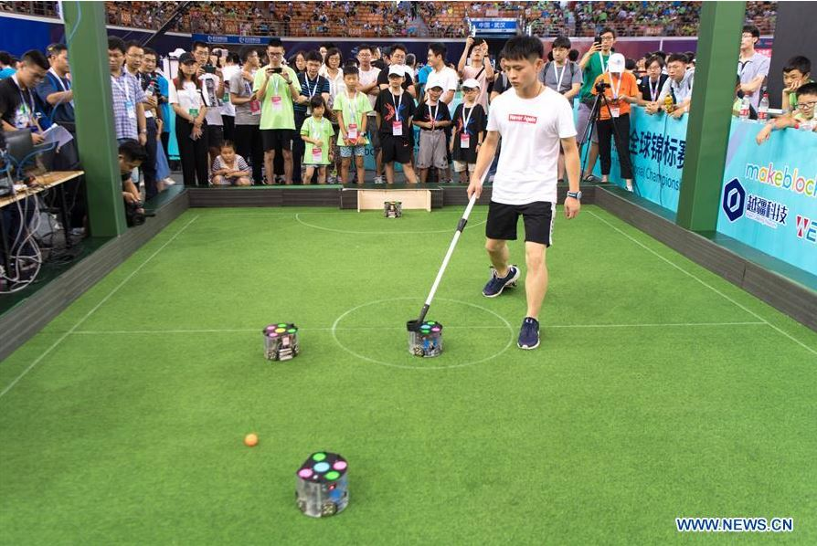 2018 World Robot Contest held in Wuhan, central China's Hubei