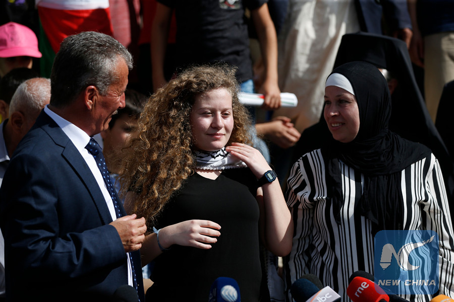 Palestinian teen freed from Israel jail vows to keep fighting
