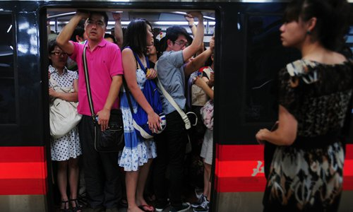 Undercover police officers track sexual offenders on Beijing subway during rush hour