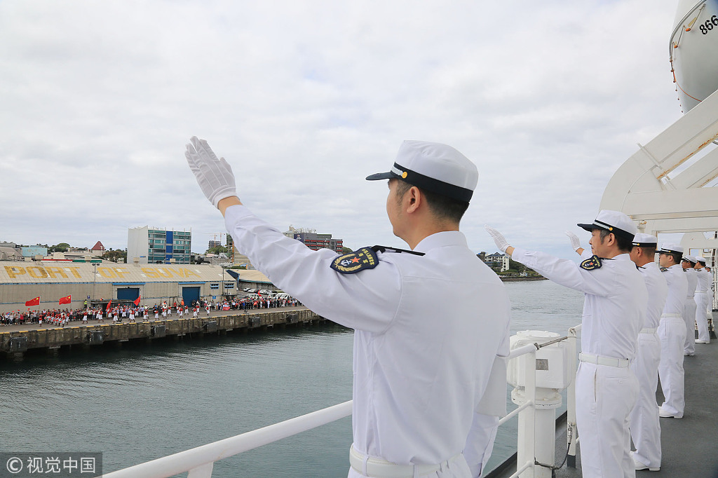 Chinese naval hospital ship Ark Peace concludes visit to Fiji