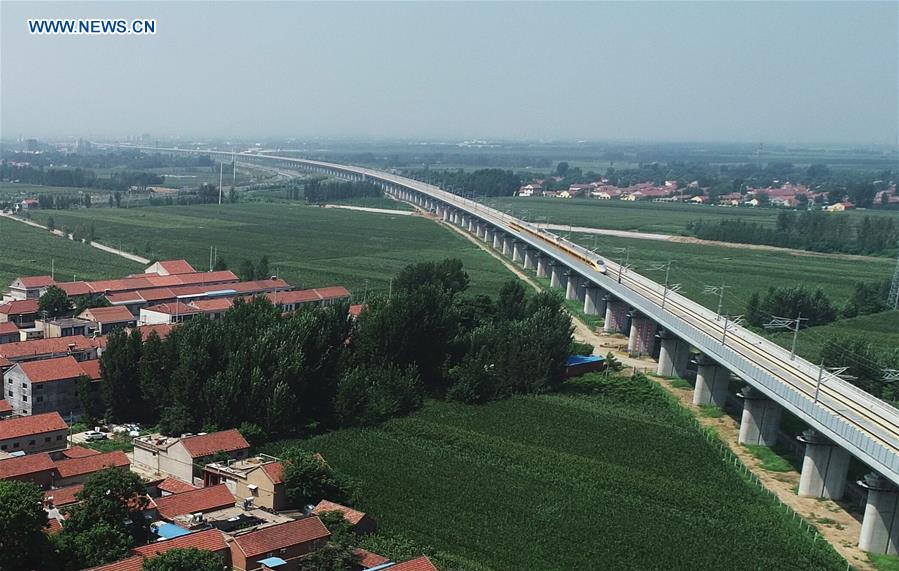 Jinan-Qingdao high-speed railway starts joint test in east China's Shandong