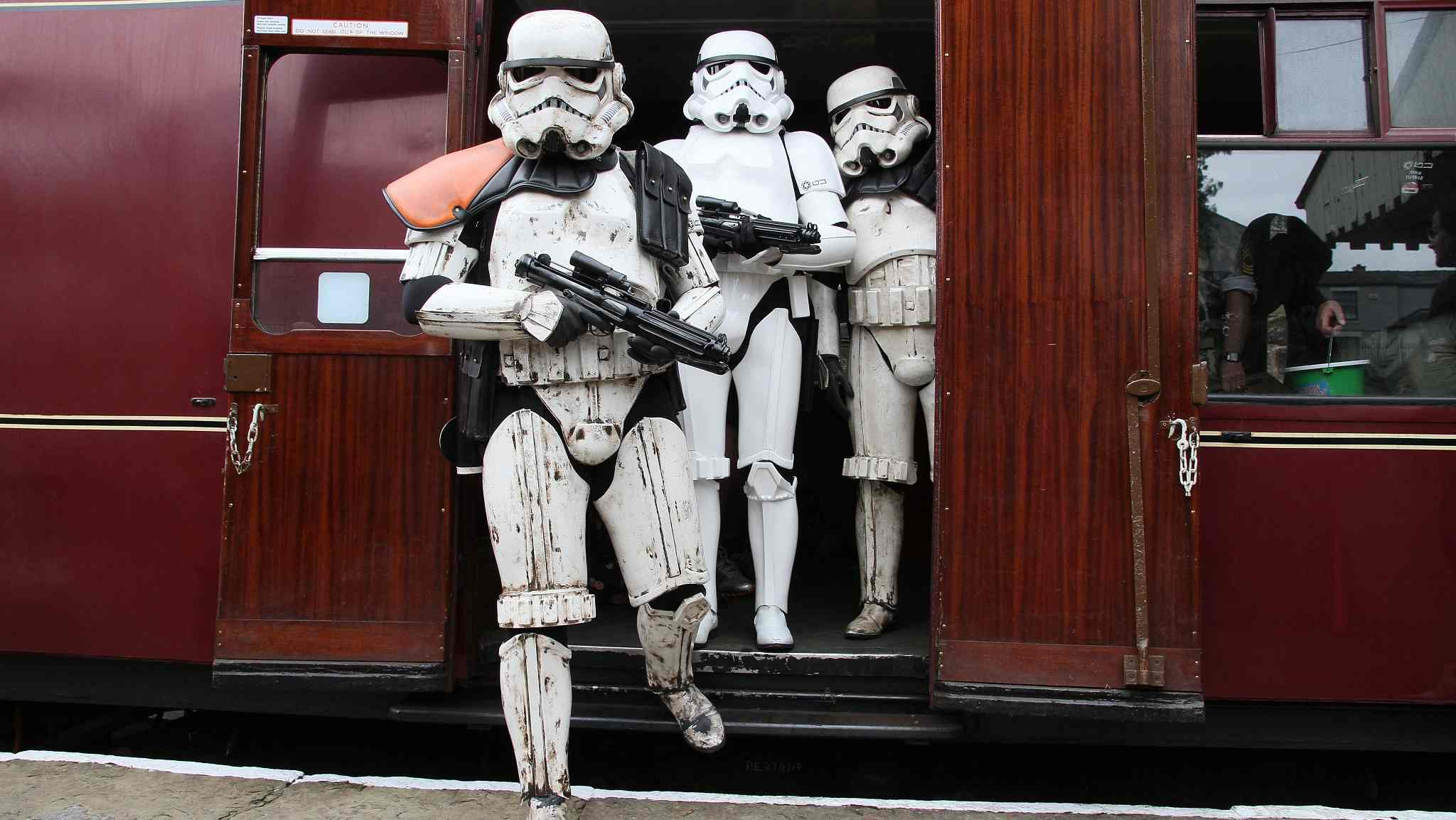 UK railway station brings sci-fi movie characters to life